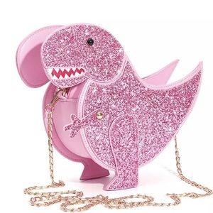 Handbags - NWT Pink Glitter Dinosaur T-Rex Crossbody Bag